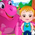 طفل عسلي حديقة الديناصورات