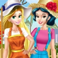 Princesses Working In Garden