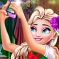 Ladybug And Elsa Xmas Selfie