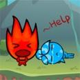 Niño rojo y niña azul